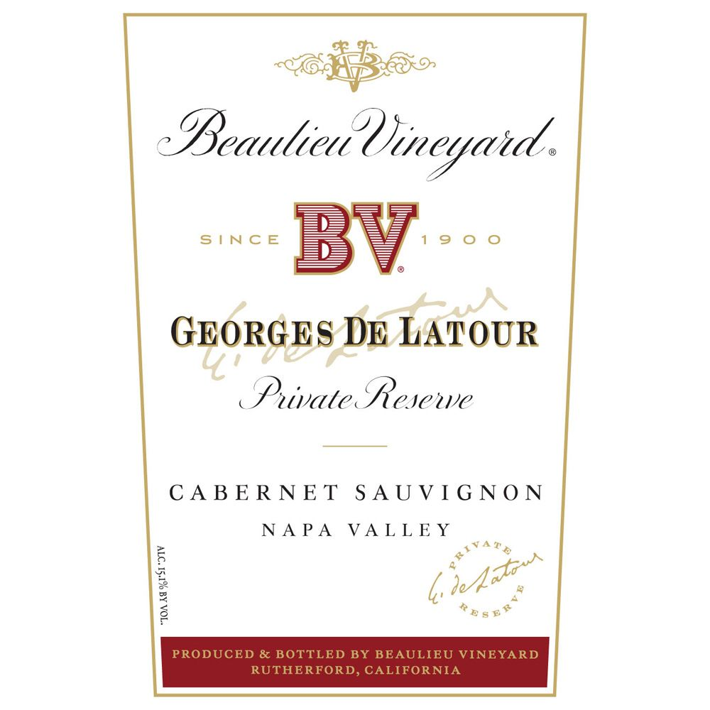 Beaulieu Vineyard Georges de Latour Private Reserve 1969 Front Label