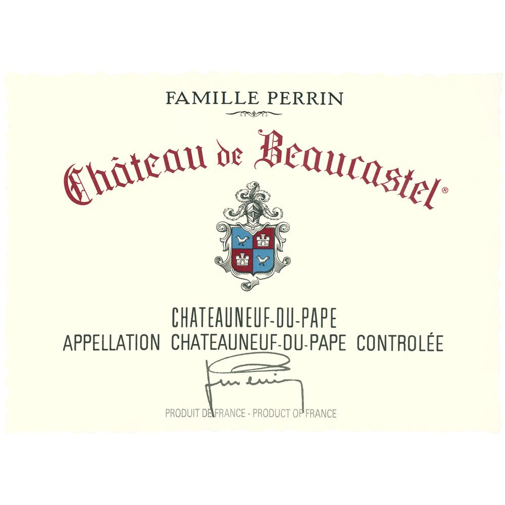 Chateau de Beaucastel Chateauneuf-du-Pape (signs of seepage) 1989 Front Label