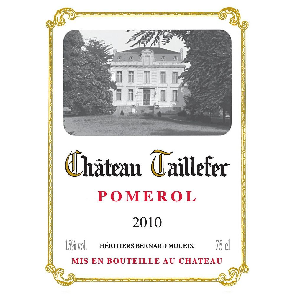 Chateau Taillefer  2010 Front Label