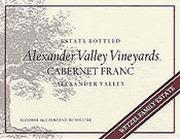 Alexander Valley Vineyards Cabernet Franc 1997 Front Label