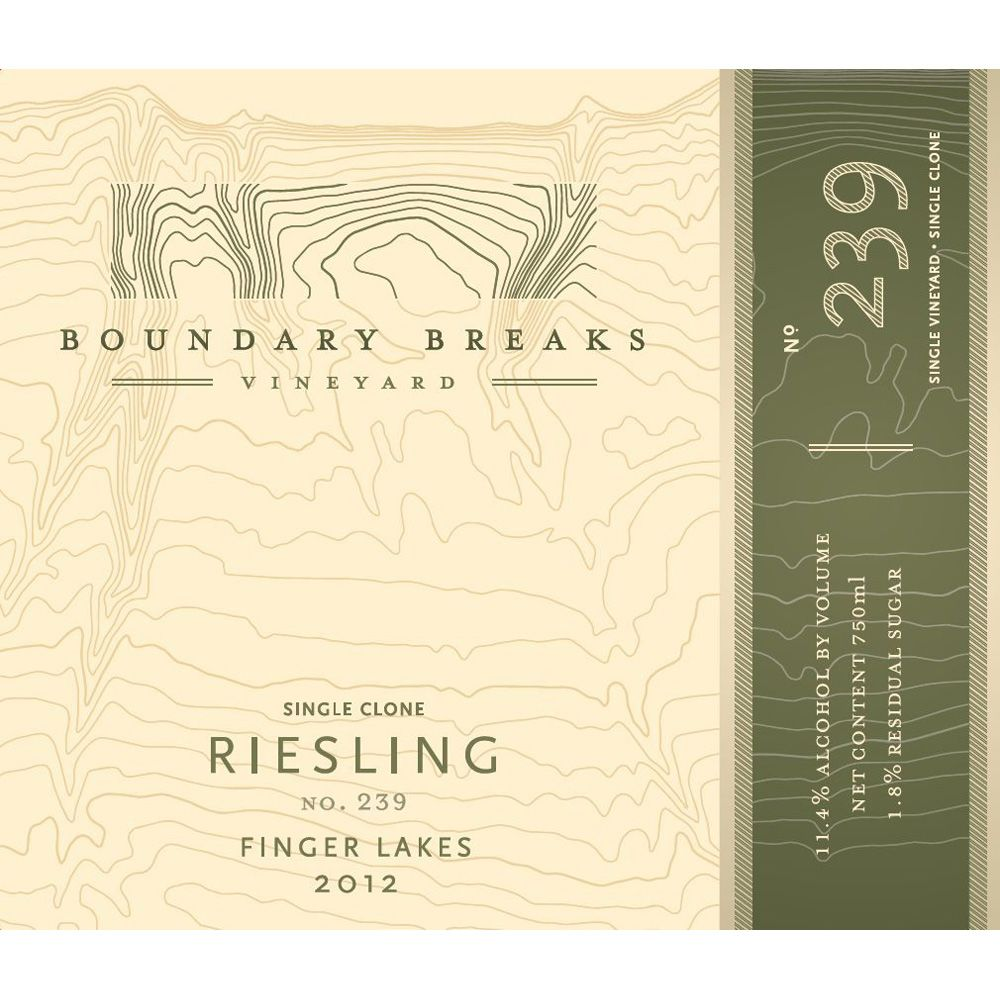 Boundary Breaks No.239 Riesling 2012 Front Label