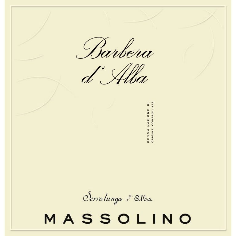 Massolino Barbera d'Alba 2013 Front Label