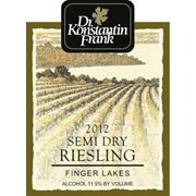 Dr. Konstantin Frank Semi Dry Riesling 2012 Front Label