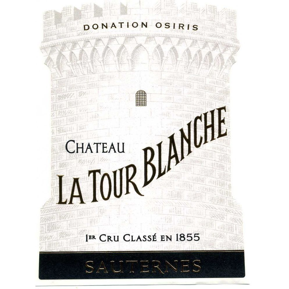 Chateau La Tour Blanche Sauternes (375ML half-bottle) 2001 Front Label