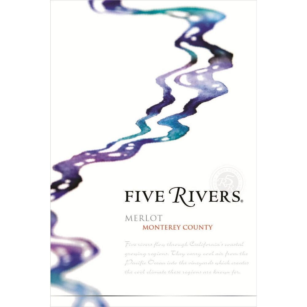 Five Rivers Merlot 2011 Front Label