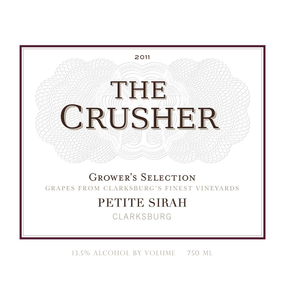 The Crusher Petite Sirah 2011 Front Label