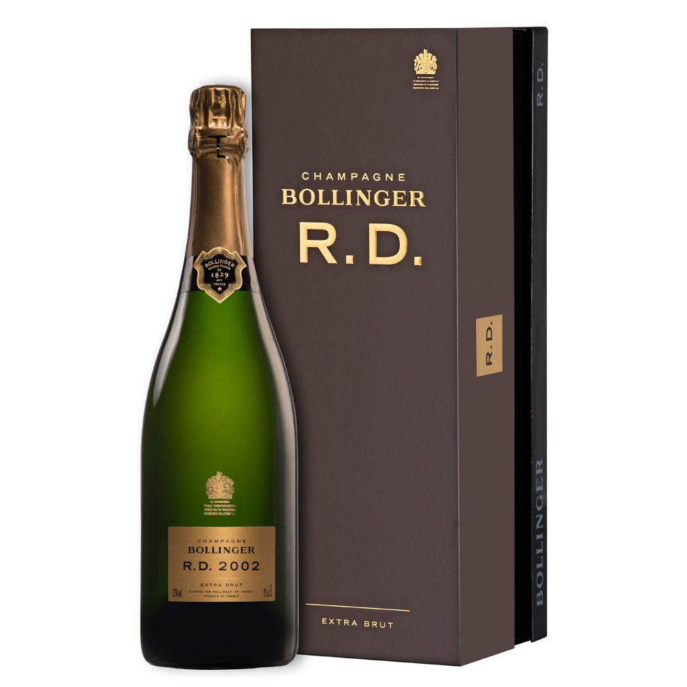 Bollinger R.D. Extra Brut with Gift Box 2002 Front Label