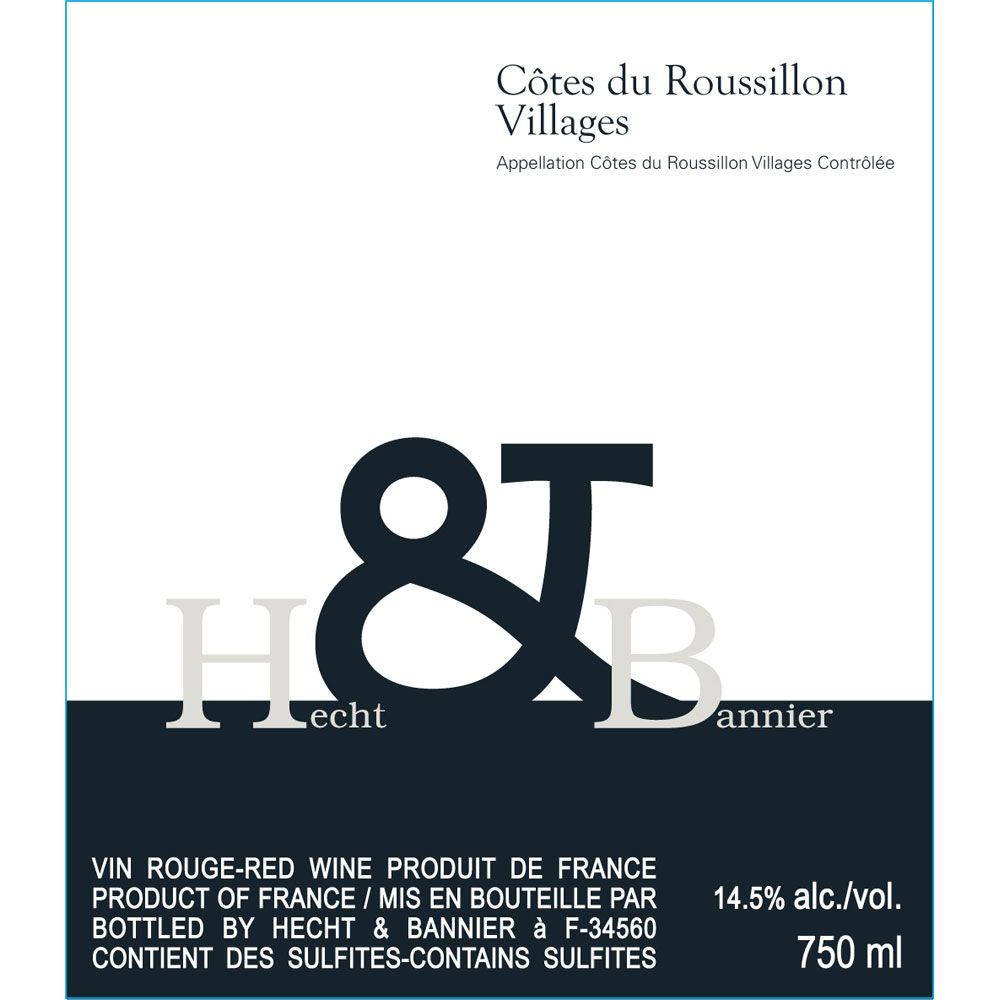 Hecht & Bannier Cotes du Roussillon Villages 2010 Front Label