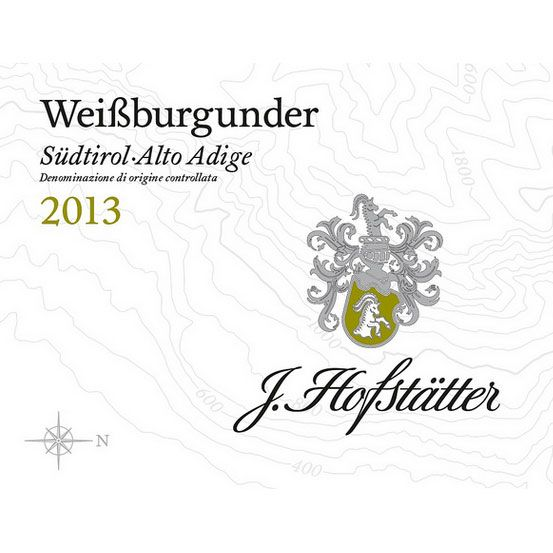 J. Hofstatter Pinot Blanco 2013 Front Label