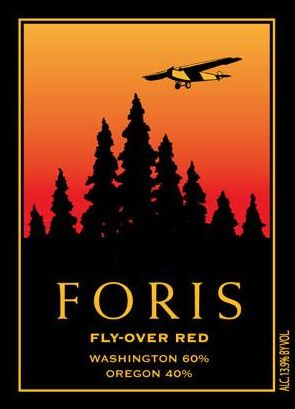 Foris Fly-Over Red 2011 Front Label