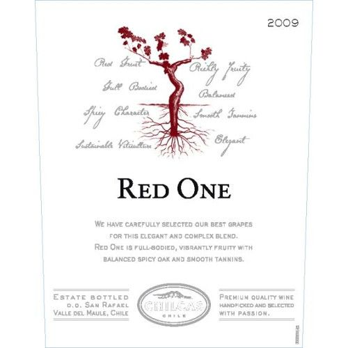Chilcas Red One 2009 Front Label