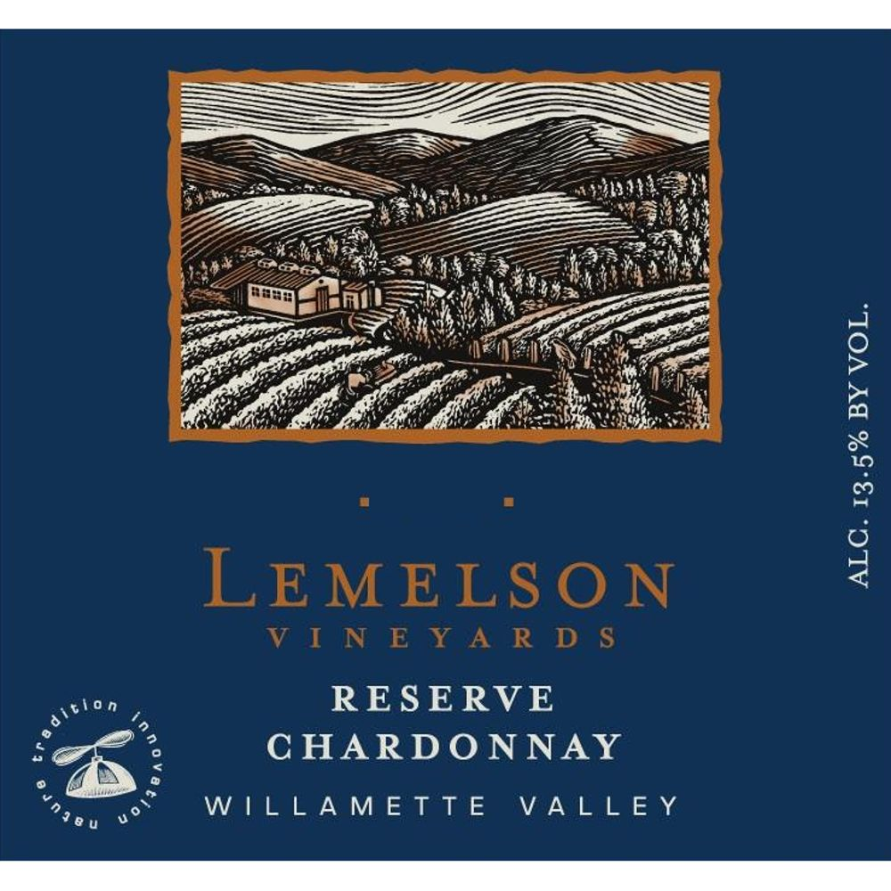 Lemelson Chardonnay Reserve 2012 Front Label