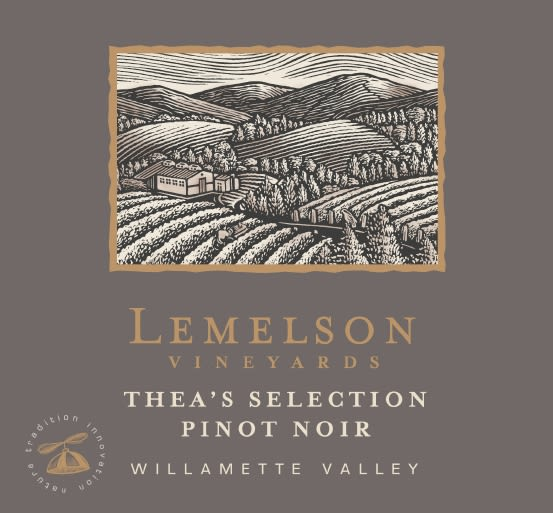 Lemelson Thea's Select Pinot Noir 2012 Front Label