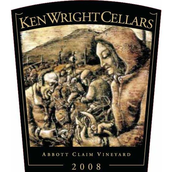 Ken Wright Cellars Abbott Claim Vineyard Pinot Noir (1.5L Magnum) 2008 Front Label
