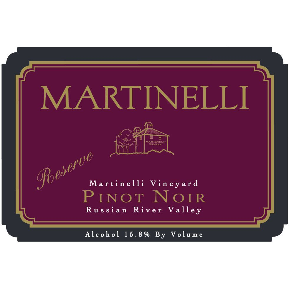 Martinelli Russian River Pinot Noir 2001 Front Label