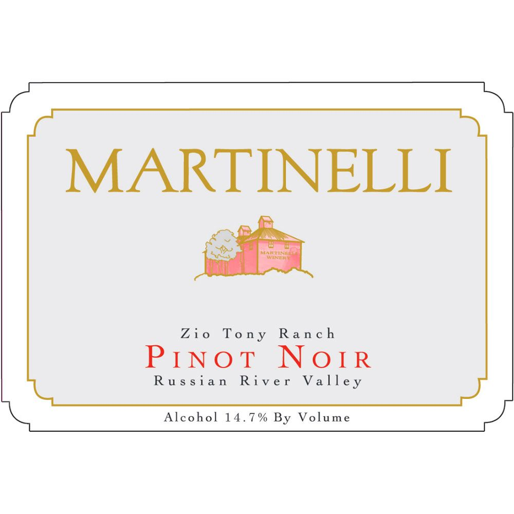 Martinelli Zio Tony Ranch Pinot Noir (1.5L Magnum) 2004 Front Label
