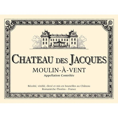 Chateau des Jacques Moulin-a-Vent 2012 Front Label