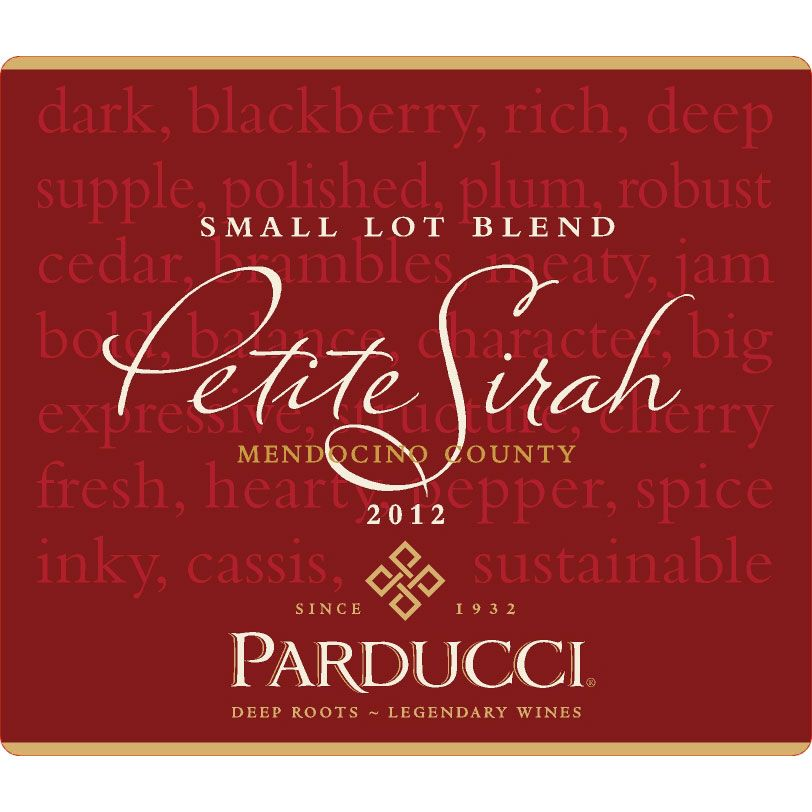 Parducci Small Lot Petite Sirah 2012 Front Label