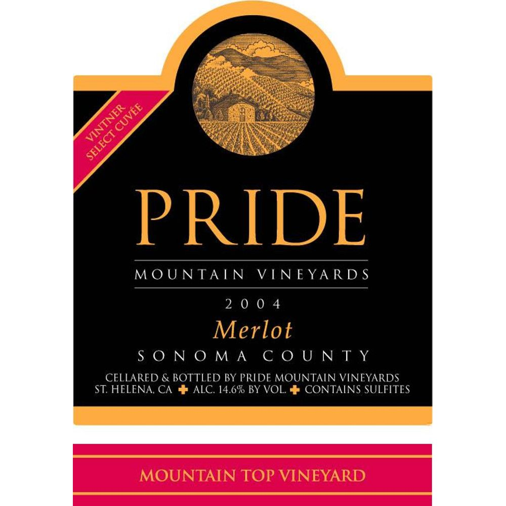 Pride Mountain Vineyards Merlot (1.5 Liter Magnum) 2004 Front Label