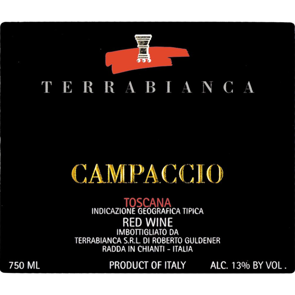 Terrabianca Campaccio (375ML half-bottle) 2010 Front Label