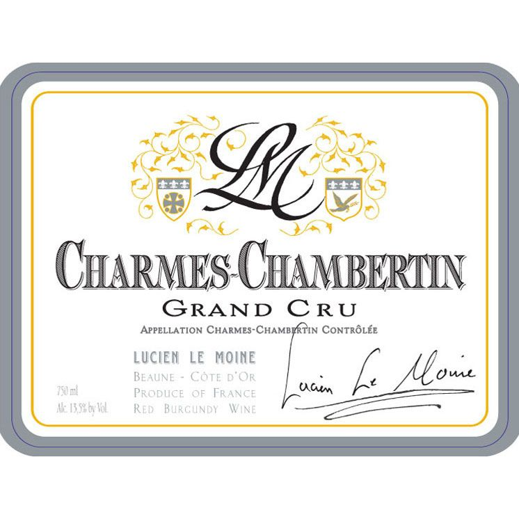 Lucien Le Moine Charmes-Chambertin Grand Cru 2012 Front Label