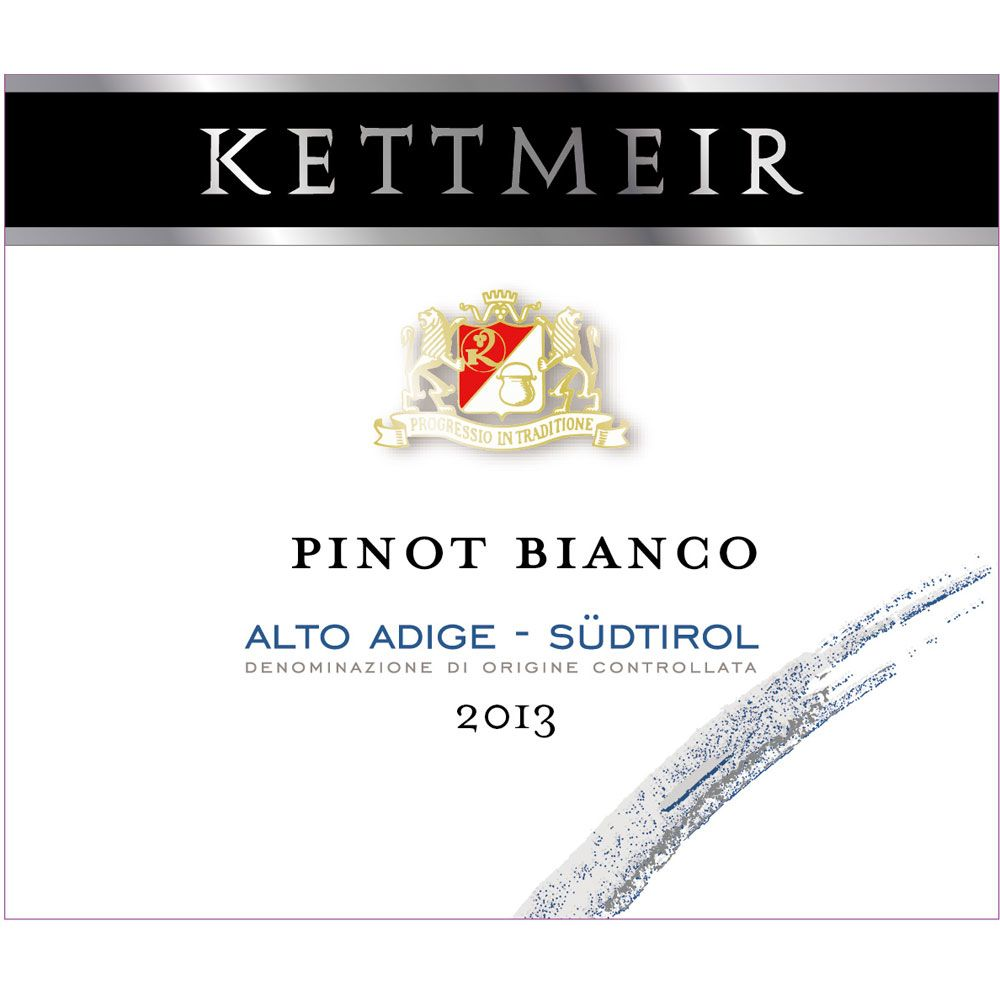 Kettmeir Pinot Bianco 2013 Front Label