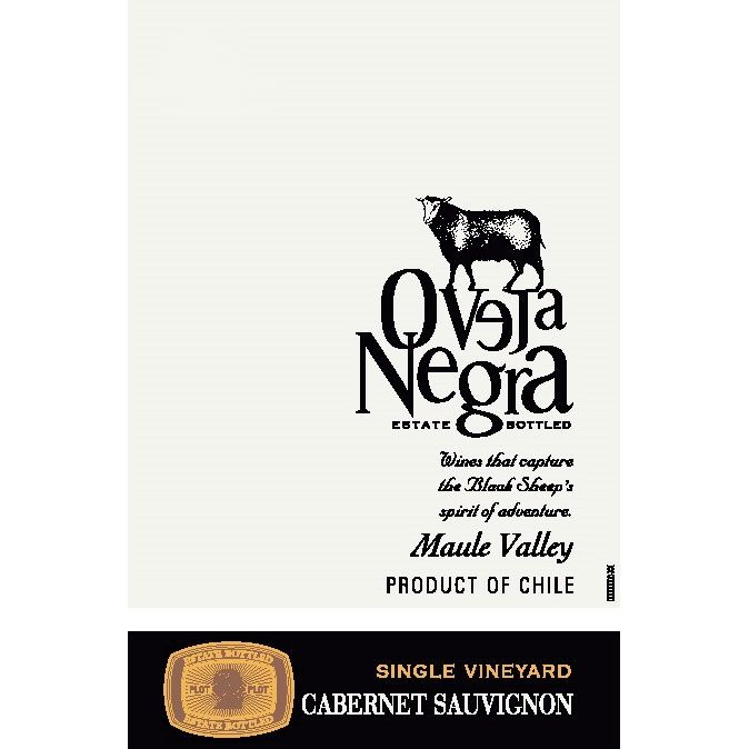 Oveja Negra Single Vineyard Cabernet Sauvignon 2008 Front Label