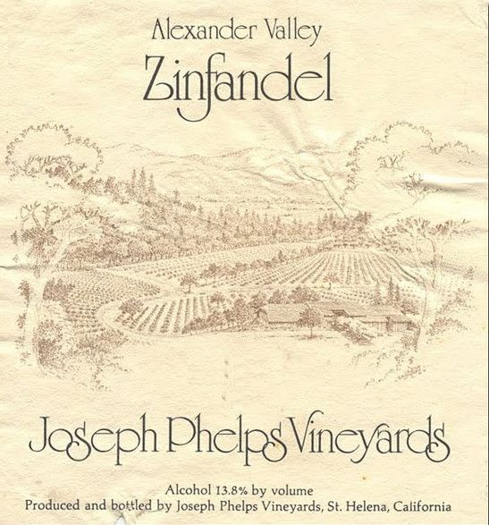 Joseph Phelps Alexander Valley Zinfandel 1978 Front Label