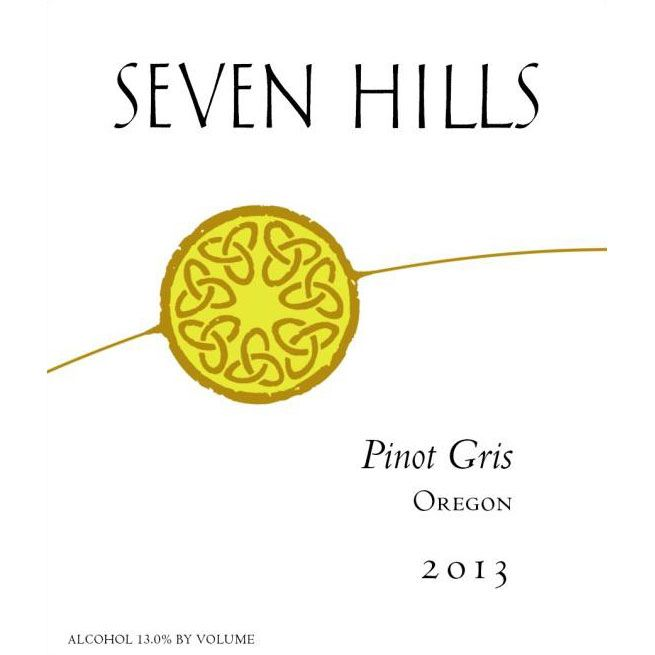 Seven Hills Winery Oregon Pinot Gris 2013 Front Label