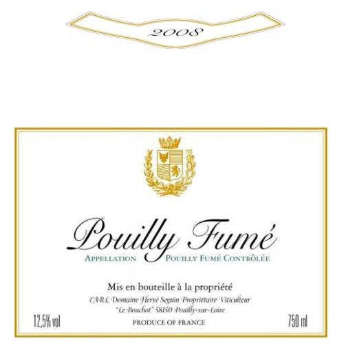 Domaine Herve Seguin Pouilly Fume 2008 Front Label