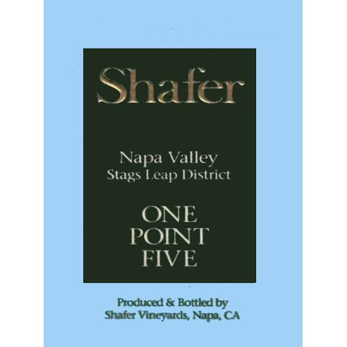 Shafer One Point Five Cabernet Sauvignon (3 Liter Bottle) 2011 Front Label