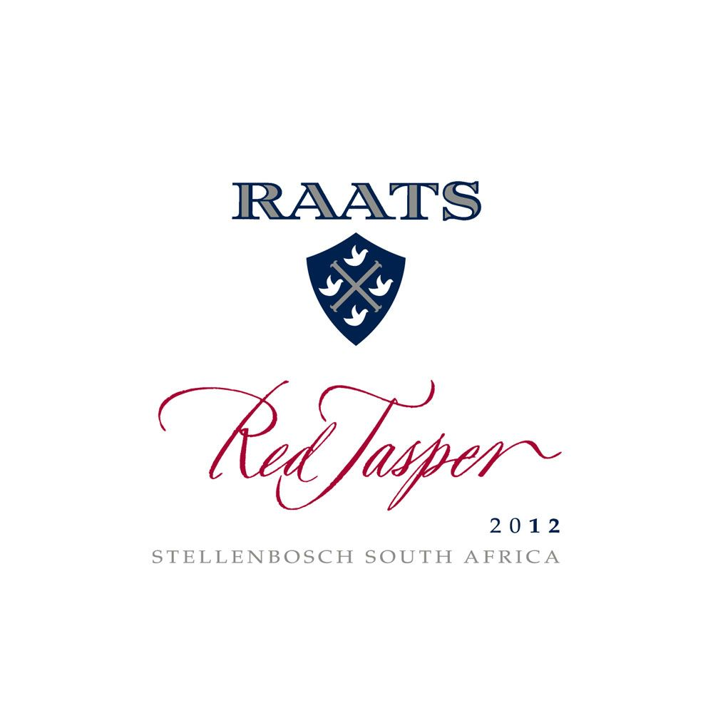 Raats Red Jasper 2012 Front Label