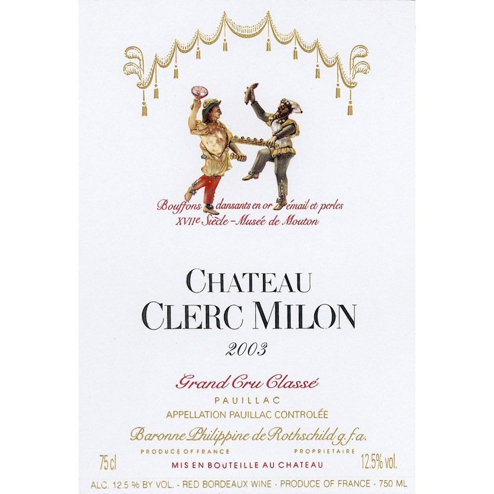 Chateau Clerc Milon  2003 Front Label