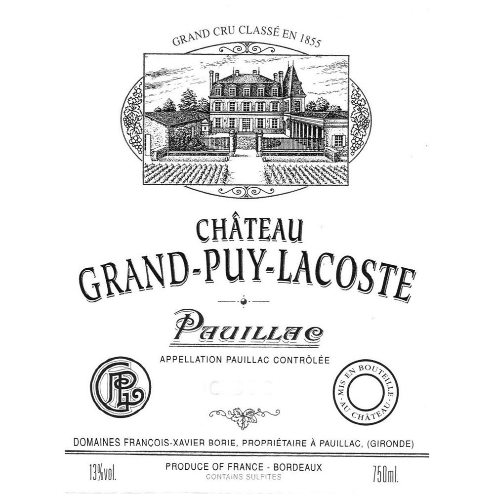 Chateau Grand-Puy-Lacoste (1.5 Liter Magnum) 2000 Front Label