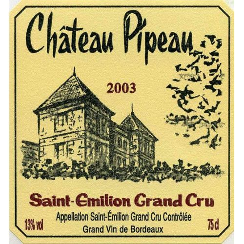 Chateau Pipeau  2003 Front Label