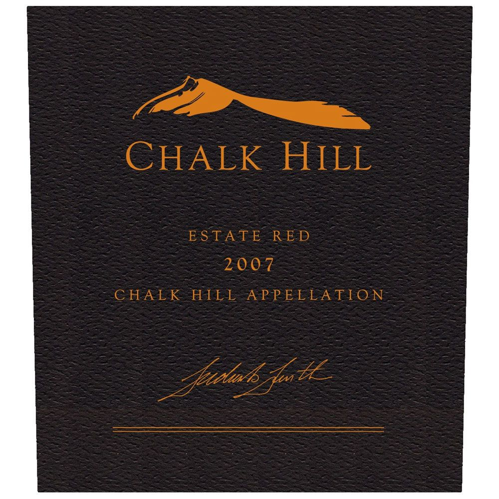 Chalk Hill Estate Red (1.5 Liter Magnum) 2007 Front Label