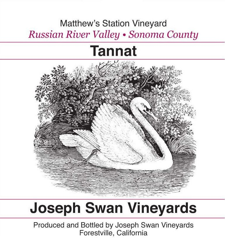 Joseph Swan Matthew's Station Vineyard Tannat 2013 Front Label