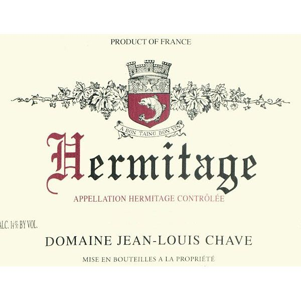 Jean-Louis Chave Hermitage 1998 Front Label