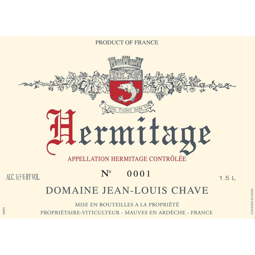 Jean-Louis Chave Hermitage 2004 Front Label