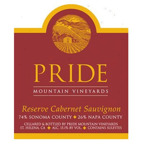 Pride Mountain Vineyards Reserve Cabernet Sauvignon 2011 Front Label