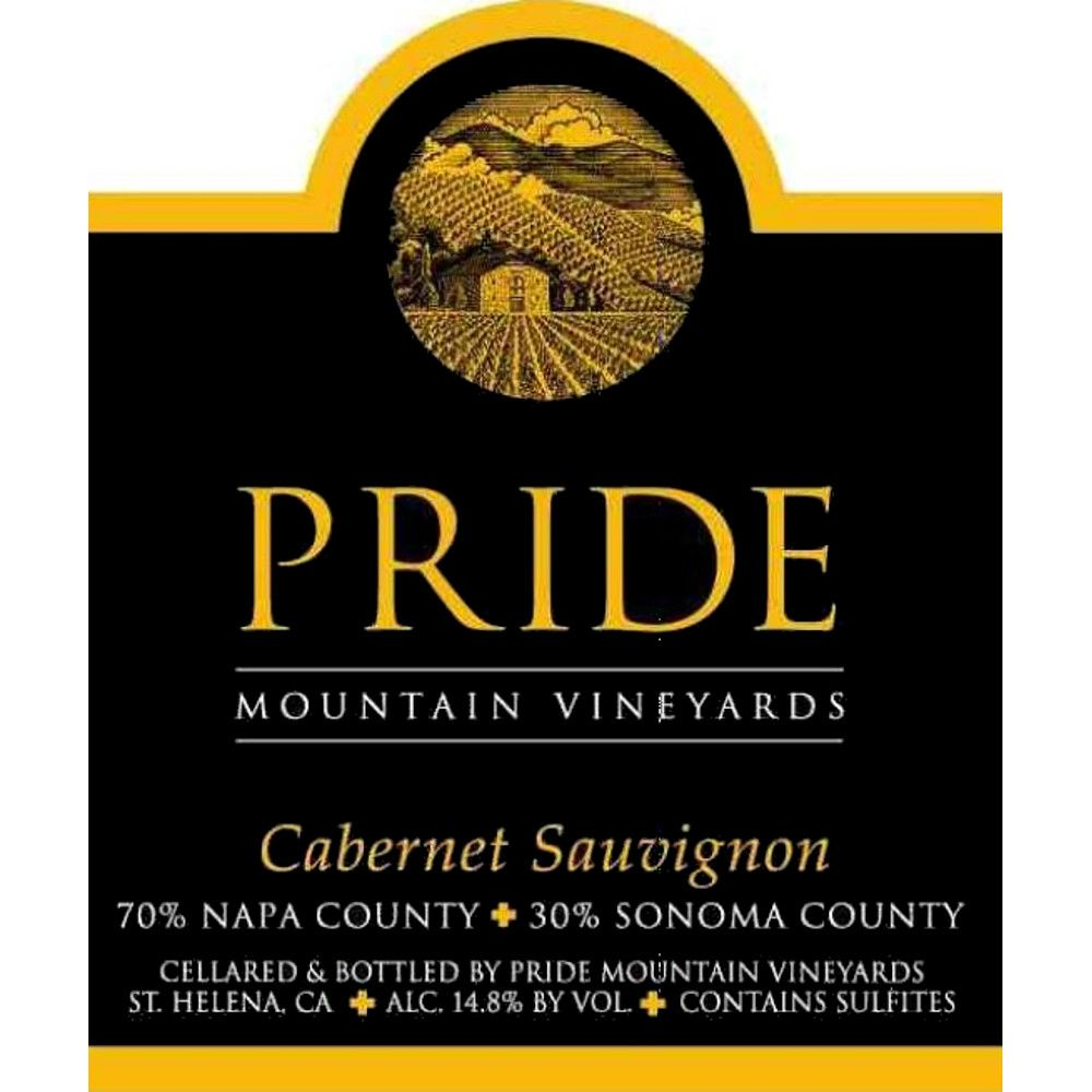 Pride Mountain Vineyards Cabernet Sauvignon 2009 Front Label