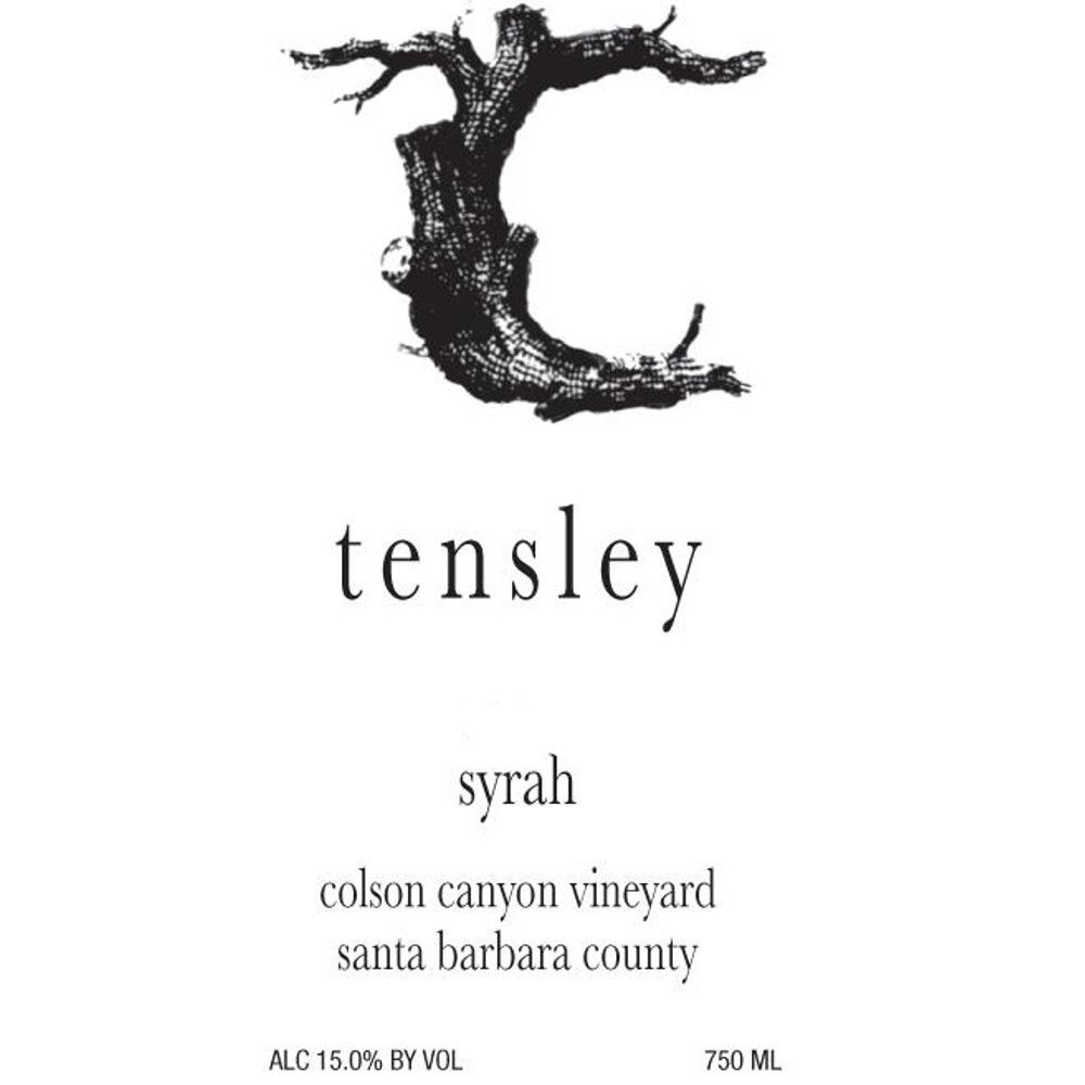 Tensley Colson Canyon Vineyard Syrah 2013 Front Label