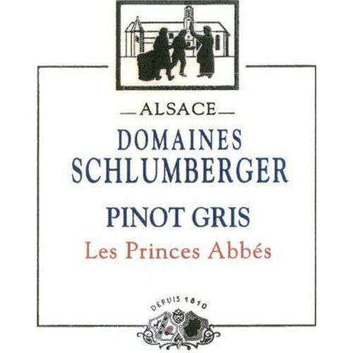 Domaines Schlumberger Les Princes Abbes Pinot Gris 2012 Front Label