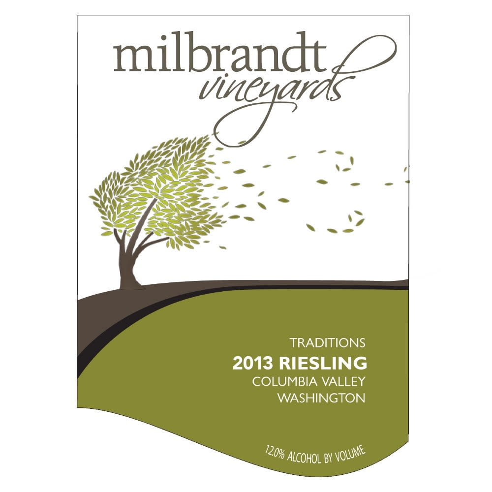 Milbrandt Traditions Riesling 2013 Front Label