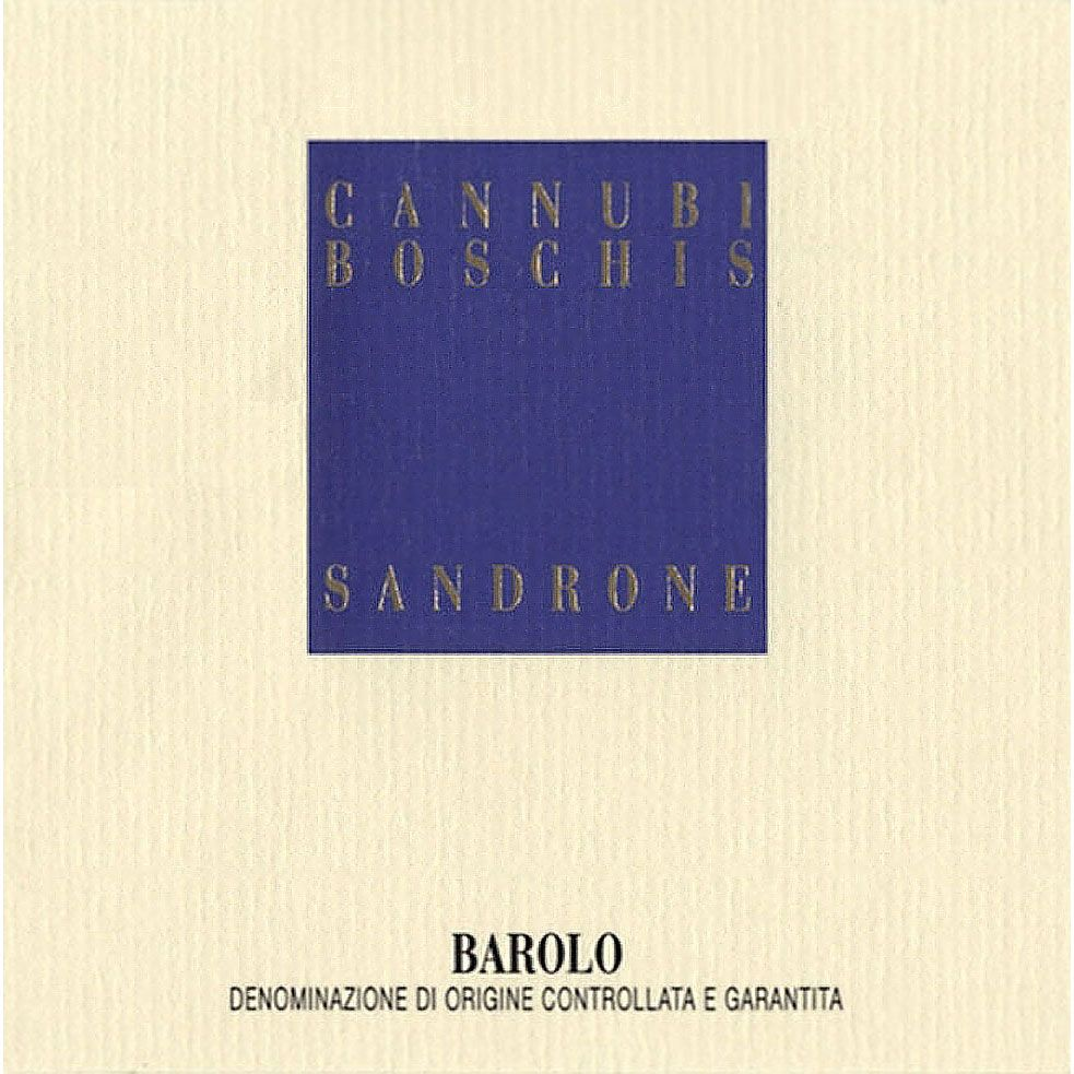 Sandrone Barolo Cannubi Boschis 1998 Front Label