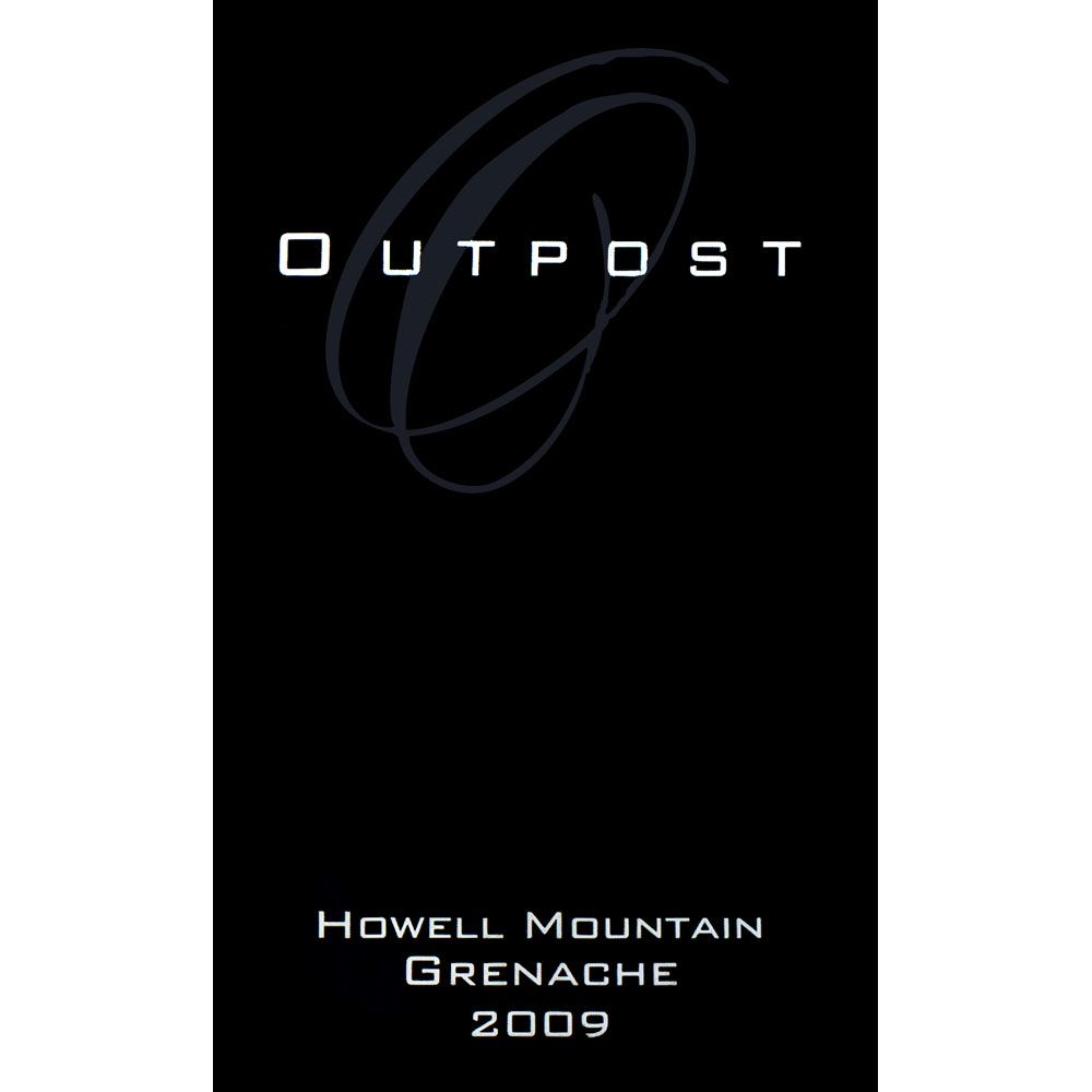 Outpost Howell Mountain Grenache 2010 Front Label