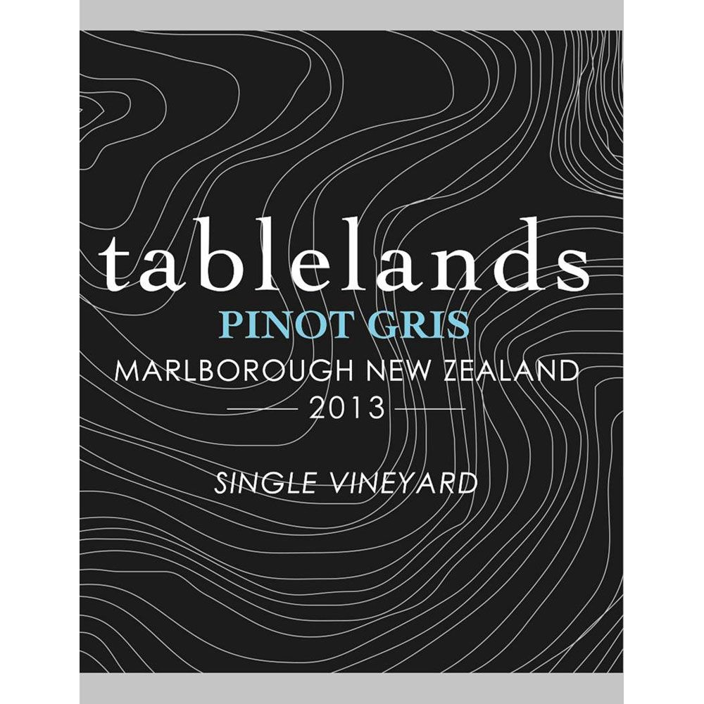 Tablelands Pinot Gris 2013 Front Label