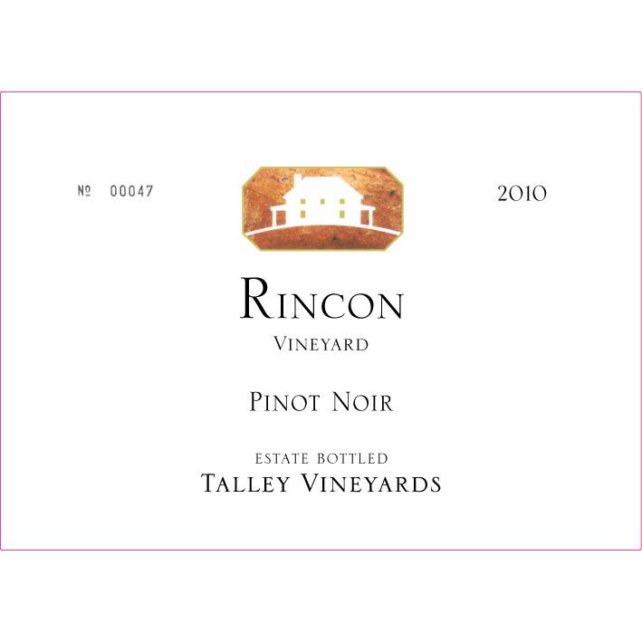 Talley Rincon Vineyard Pinot Noir 2010 Front Label