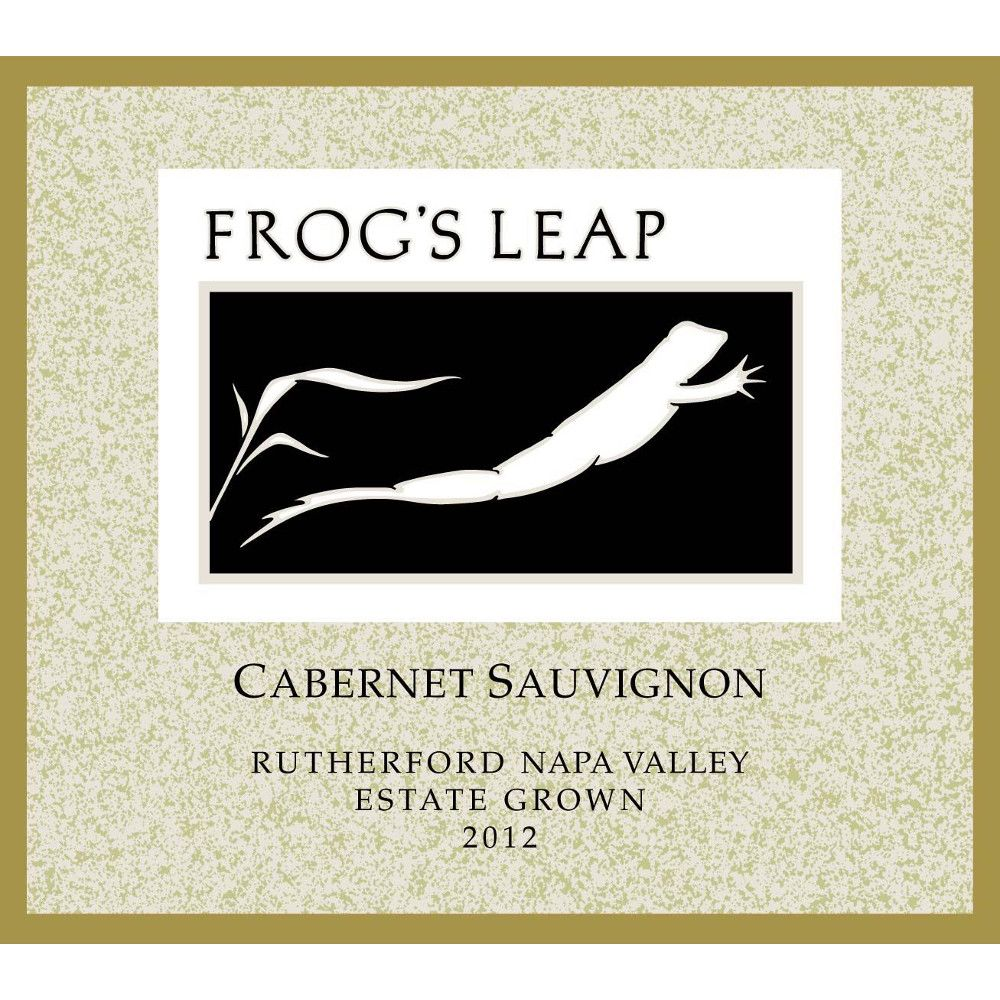Frog's Leap Estate Grown Cabernet Sauvignon 2012 Front Label