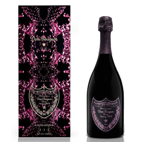 Dom Perignon Rose Limited Edition Metamorphosis in Gift Box 2003 Front Label